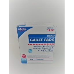 GAUZE PADS STERILE - 10 cm x 10 cm - Box of 100