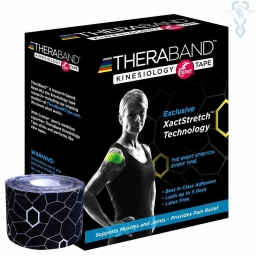KINESIO TAPE BLACK - Box 6 rolls 5 cm x 5 m