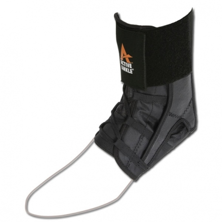 POWER LACER ANKLE BRACE - Black