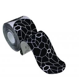 KINESIO TAPE PRECUT BLACK/WHITE - 20 x 5cm x 25,4cm