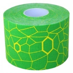 THERABAND KINESIOLOGY TAPE VERT /JAUNE FLUO Rouleau 5 cm x 5 m   NEW