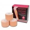 SPORTS MOTION TAPE - BEIGE (Boîte de 6 rouleaux de 5 cm x 5 m )  *