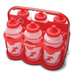 COLLAPSIBLE BOTTLE CARRIER + 6 BOTTLES